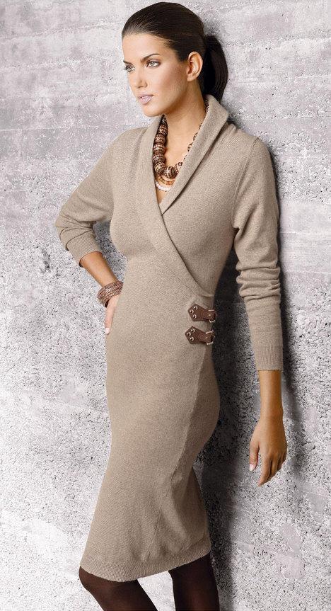 вязаное платье узорное