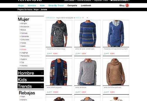 6d8ed427626a Официальный сайт компании Terranova Меню сайта содержит  1.Shop Online